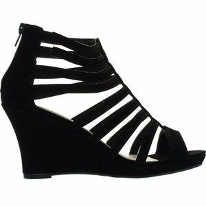 Women's Gladiator Bird Cage Strappy Wedge Sandals